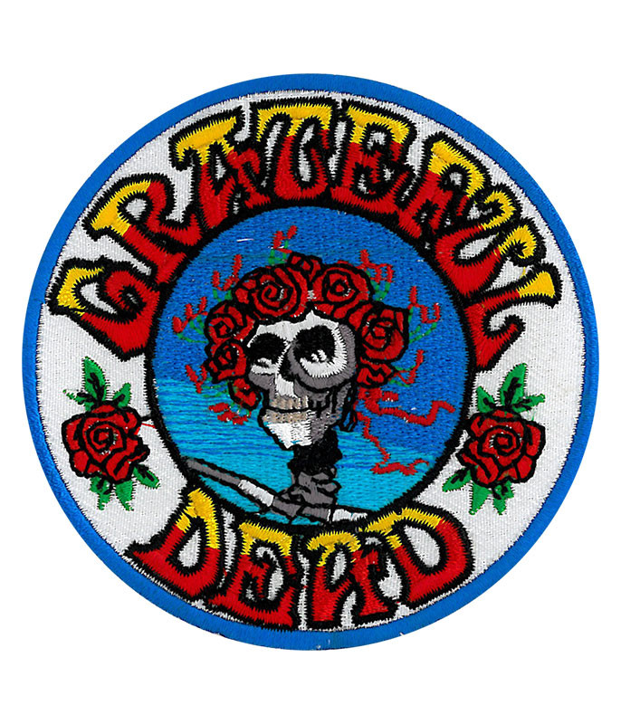 Grateful Dead GD Skull And Roses Patch
