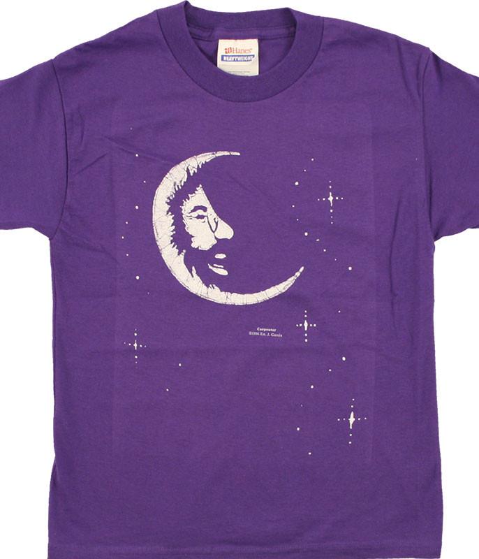 Grateful Dead Jerry Moon Youth Purple T-Shirt Tee