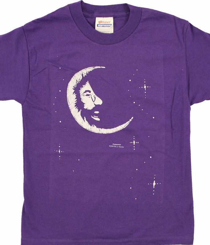 Grateful Dead Jerry Moon Youth Purple T-Shirt Tee