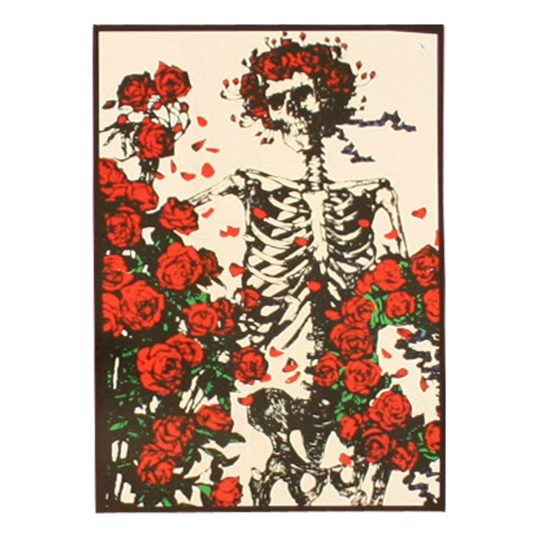 Grateful Dead Skeleton And Roses Tapestry Liquid Blue