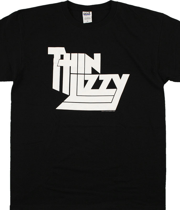 Thin Lizzy Logo Black T-Shirt Tee