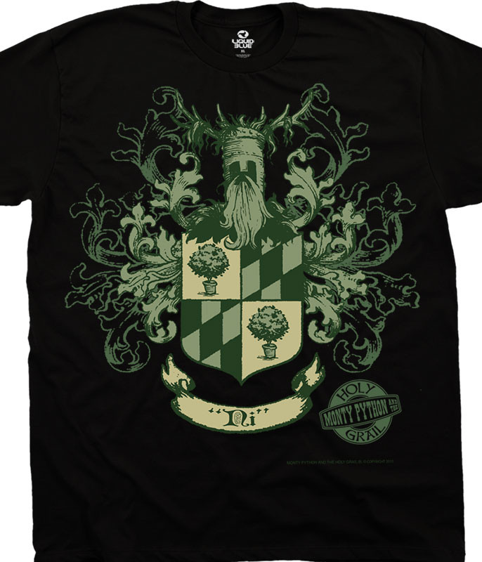KNIGHTS OF NI CREST BLACK T-SHIRT