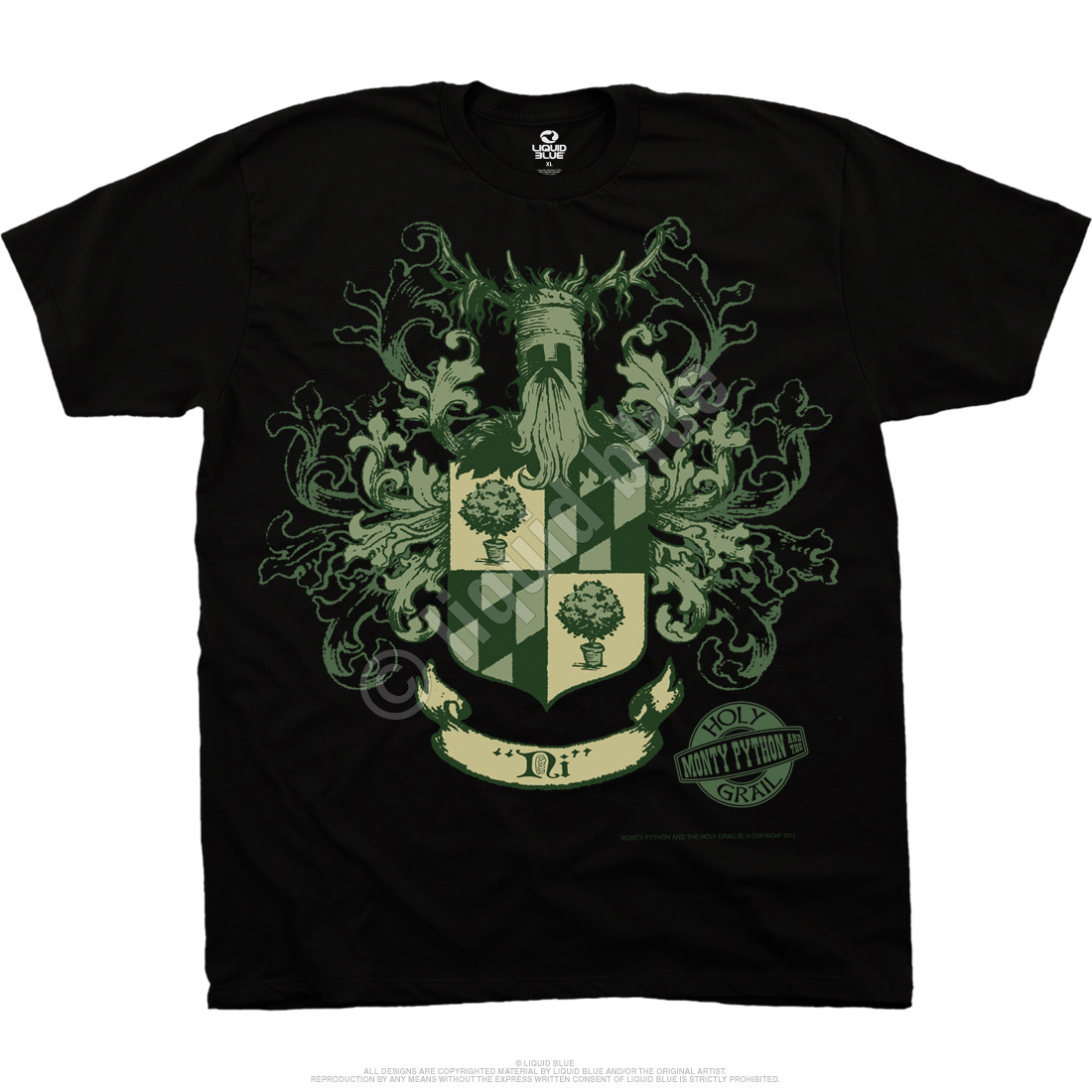 15207e5d Knights Of Ni Crest Black T-Shirt