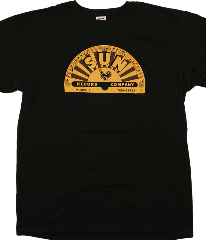 Record Label Sun Records Memphis Label Black T-Shirt Tee