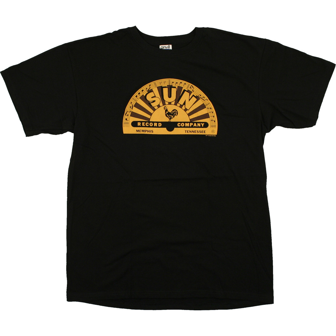 Sun Records Memphis Label Black T-Shirt