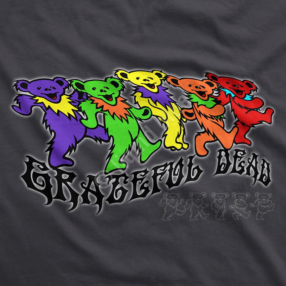 Trippy Bears Grey T-Shirt
