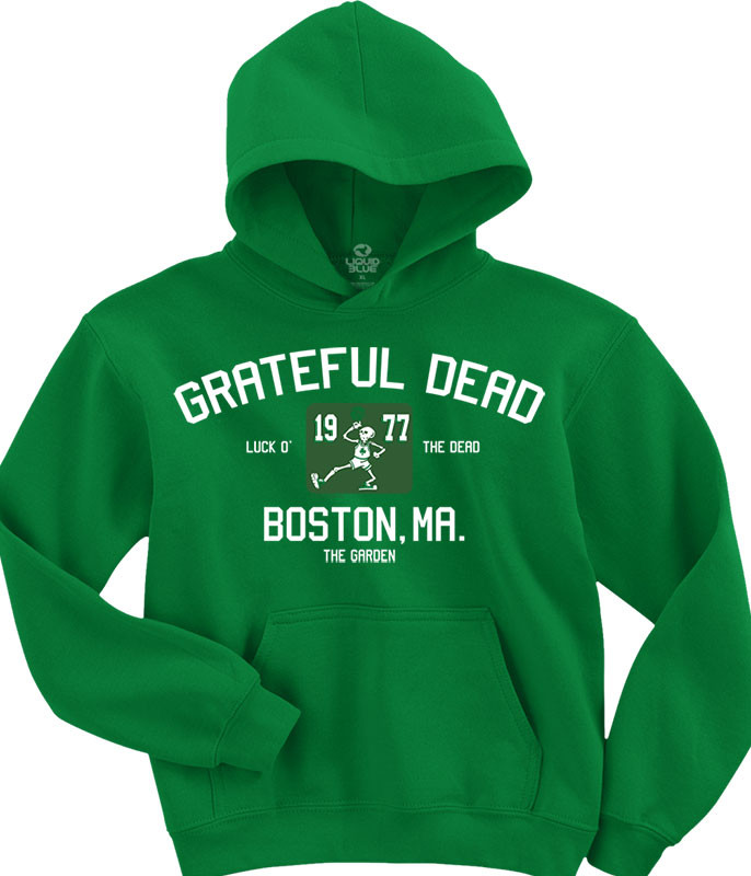Grateful Dead The Garden Green Hoodie Liquid Blue