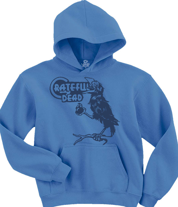 Grateful Dead Bird Song Light Blue Hoodie Liquid Blue