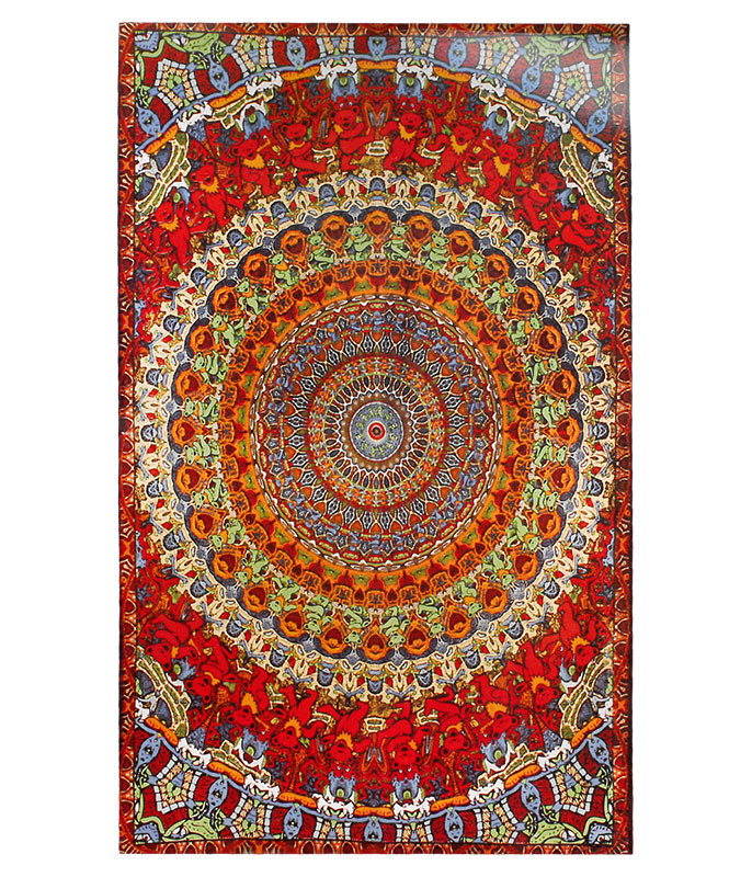 Grateful Dead GD Bear Vibrations Tapestry