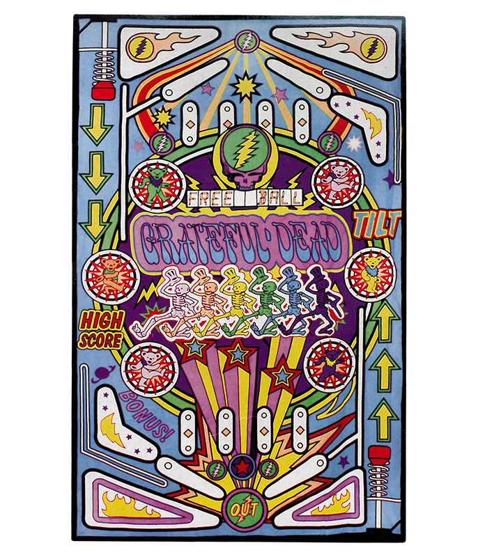 Grateful Dead GD Pinball Machine Tapestry