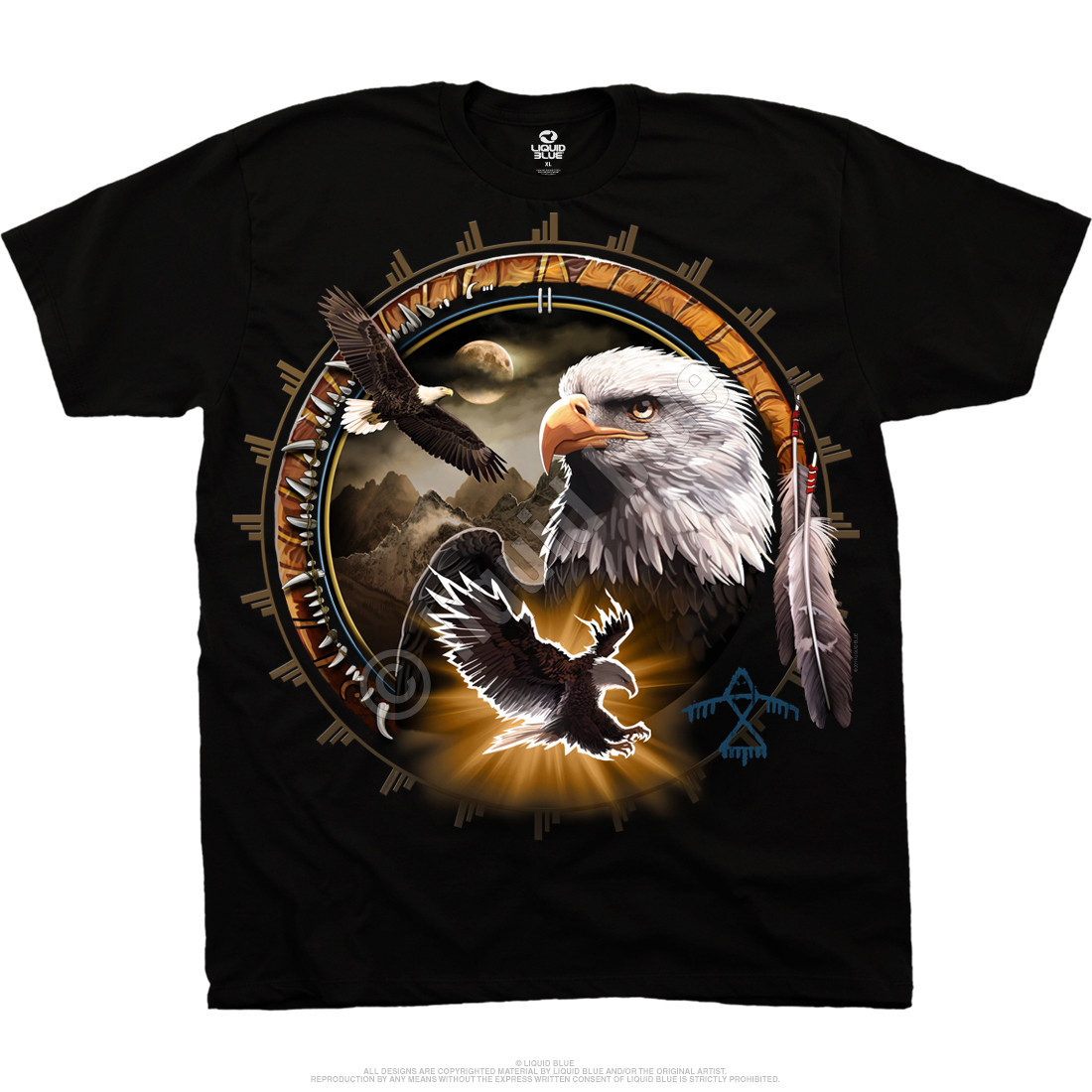 100% Authentic For Sale Cheap Price Outlet Sale Black Wolf Eagle T-Shirt Buy Cheap Low Shipping Fee Cheap Sale Shopping Online Cheapest Price HLc19