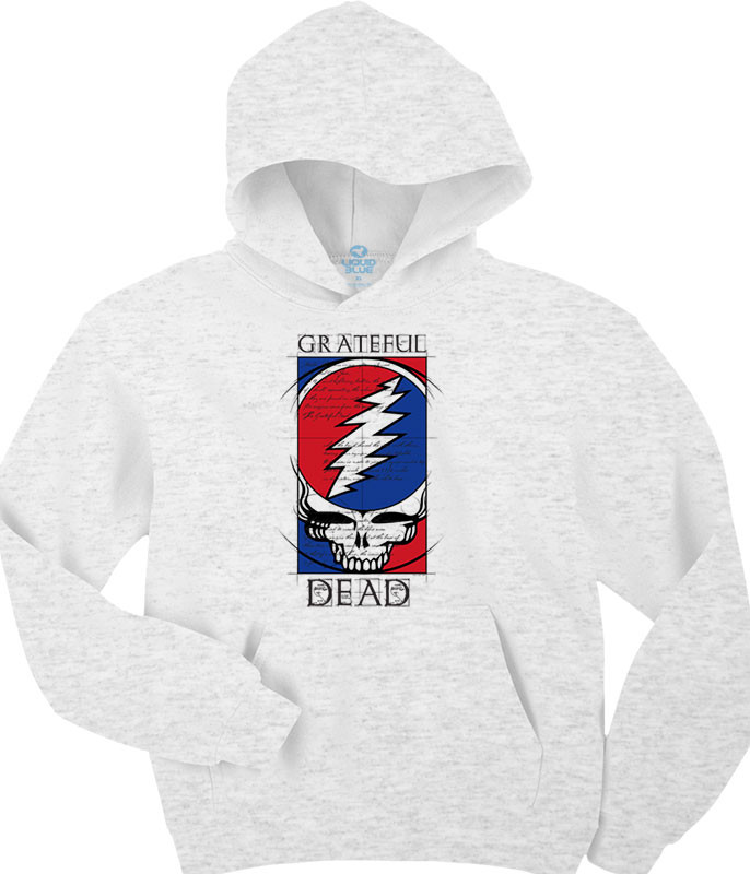 Grateful Dead Steal Your Blueprint Ash Hoodie Liquid Blue