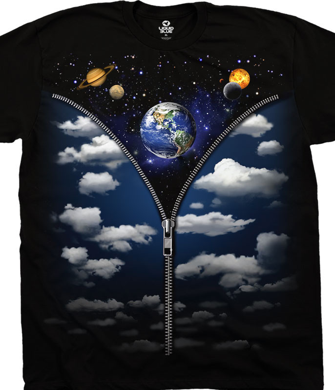 SKY SPACE BLACK T-SHIRT