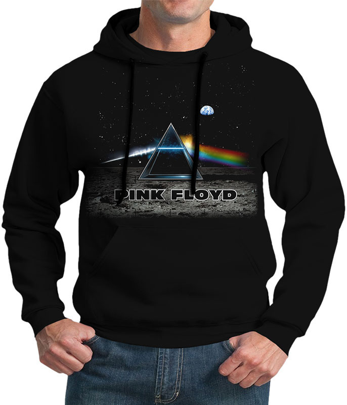 Pink Floyd Dark Side Lander Black Hoodie Liquid Blue