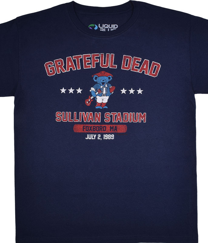 Grateful Dead Patriot Dead Navy T-Shirt Tee Liquid Blue