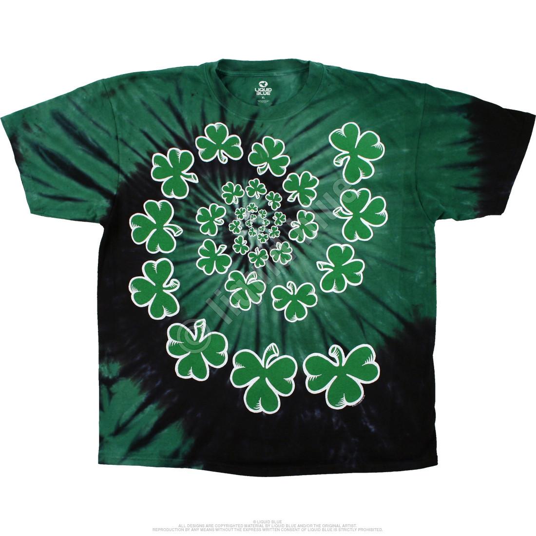 Shamrock Spiral Tie-Dye T-Shirt