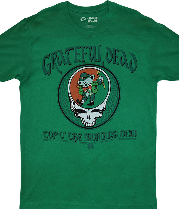 Grateful Dead Morning Dew Green Athletic T-Shirt Tee Liquid Blue