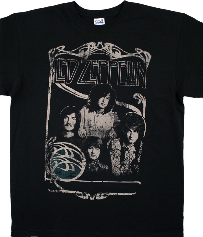 Led Zeppelin Good Times Bad Times Black T-Shirt Tee