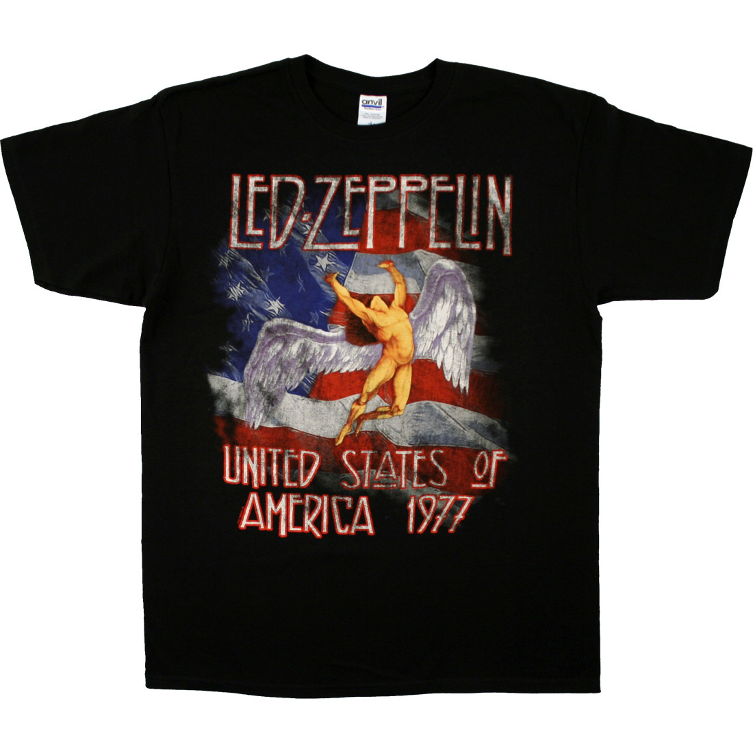 Led Zeppelin America 1977 Black T-Shirt