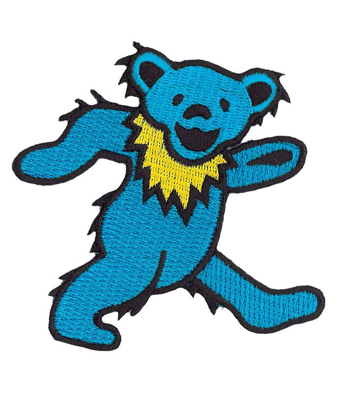 Grateful Dead GD Dancing Bear Blue Patch