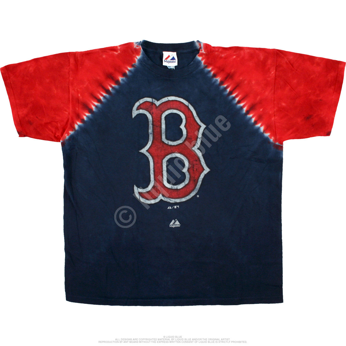 Boston Red Sox Raglan Tie-Dye T-Shirt