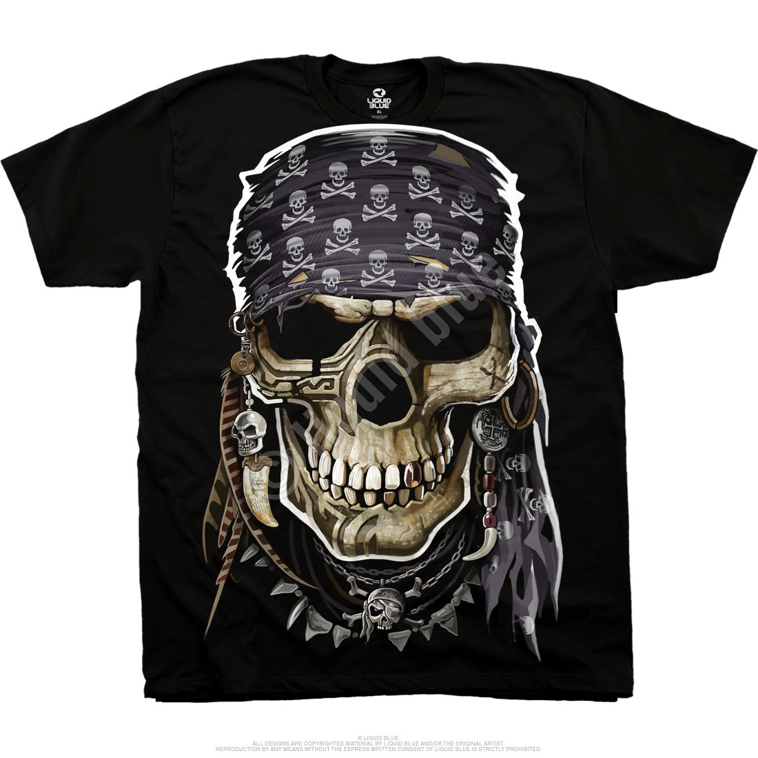 Pirate Skull Black T-Shirt