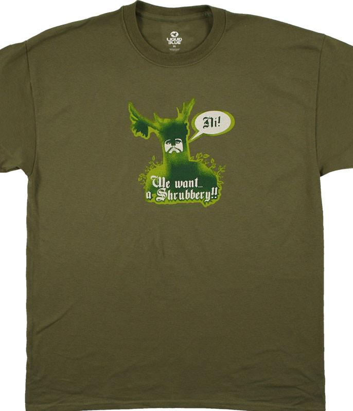 f575a77db91 Monty Python Knights Of Ni Olive T-Shirt Tee Liquid Blue
