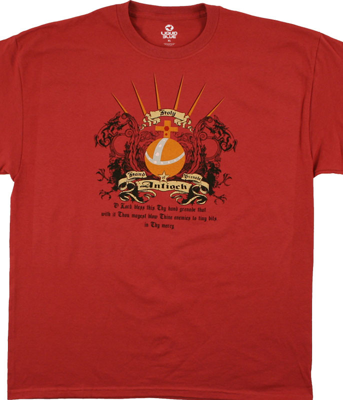 Monty Python Antioch Red T-Shirt Tee Liquid Blue