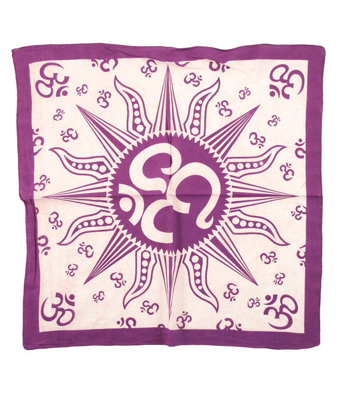 Om Sun Purple Bandana