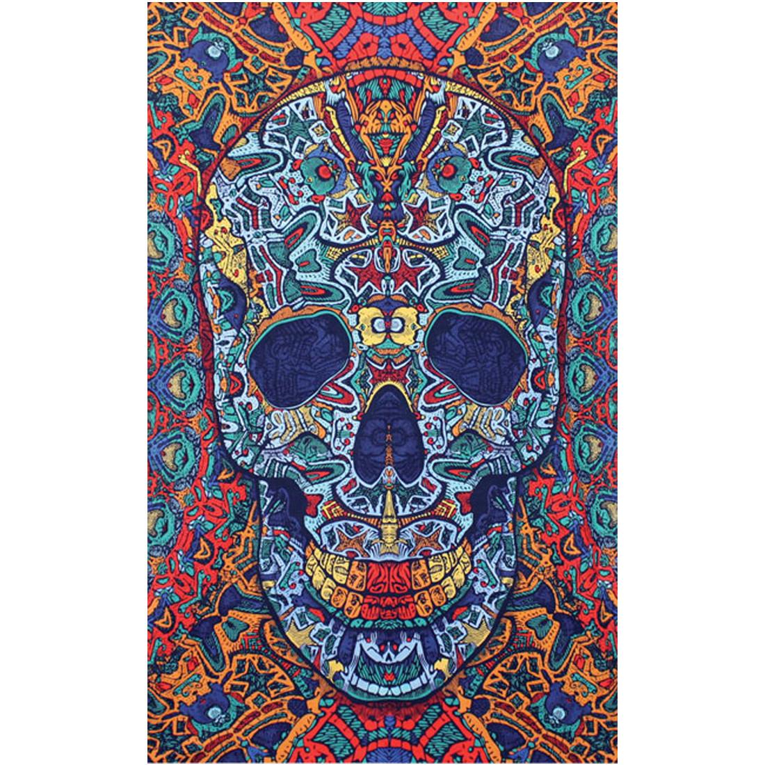 3D Skull Tapestry
