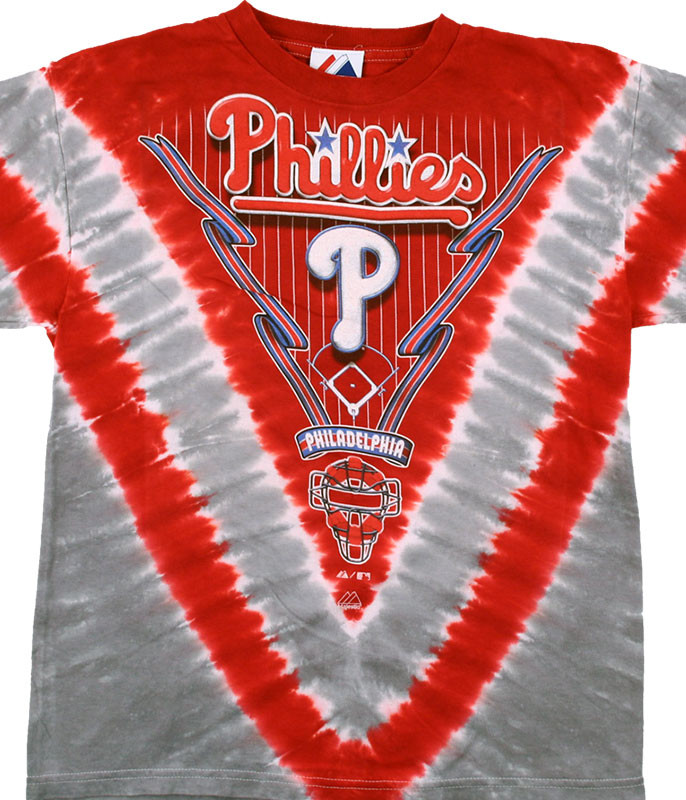 MLB Philadelphia Phillies Youth Tie-Dye T-Shirt Tee Liquid Blue