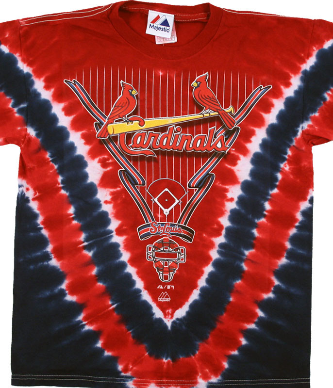 ST. LOUIS CARDINALS YOUTH V TIE-DYE T-SHIRT