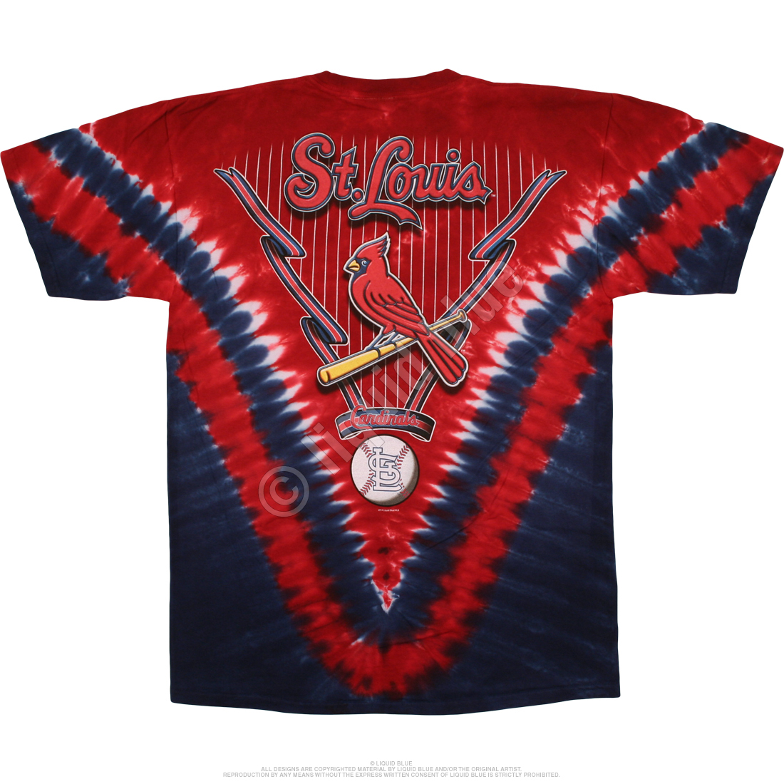 St. Louis Cardinals V Tie-Dye T-Shirt