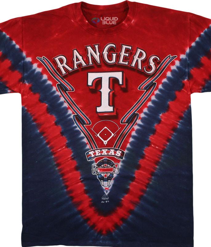 Texas Rangers V Tie-Dye T-Shirt