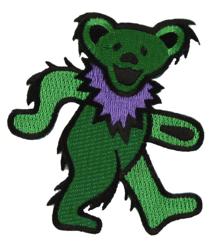 Grateful Dead GD Dancing Bear Green Patch
