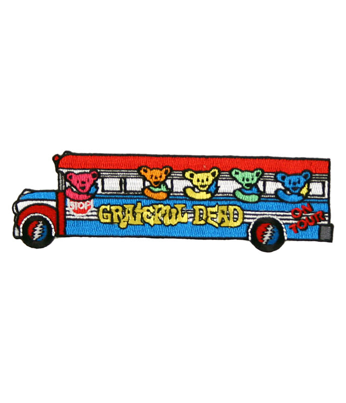 Grateful Dead Bears On The Bus Patch