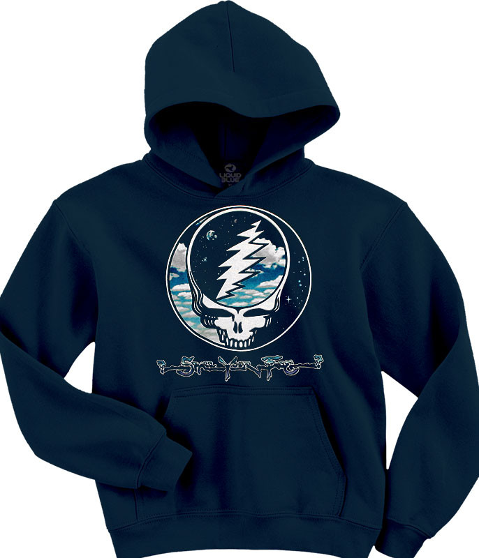 Grateful Dead Steal Your Sky And Space Navy Hoodie Liquid Blue