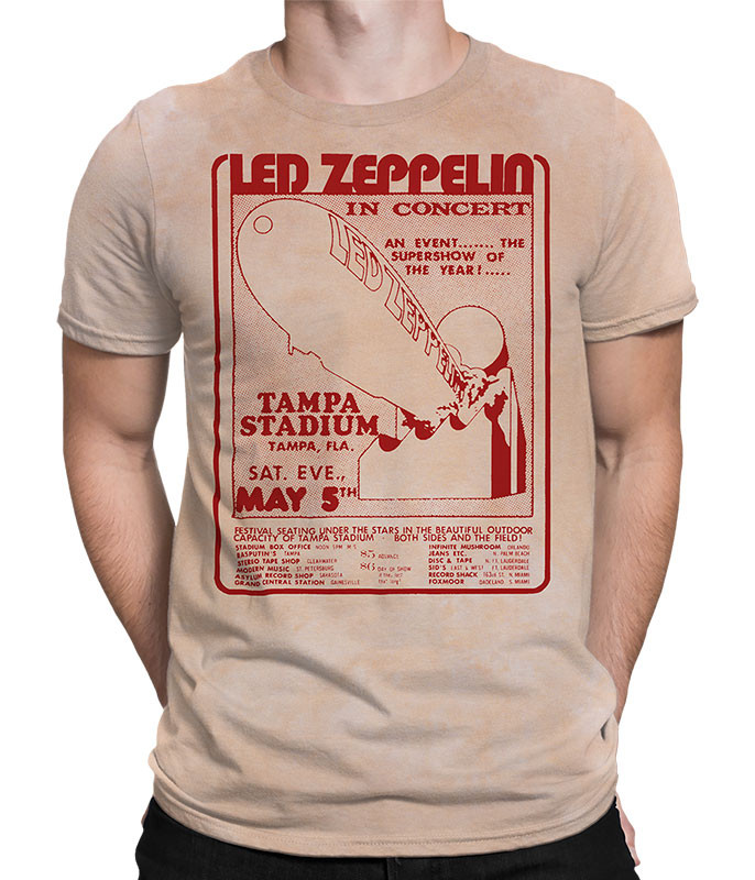 Led Zeppelin In Concert Tie-Dye T-Shirt Tee Liquid Blue