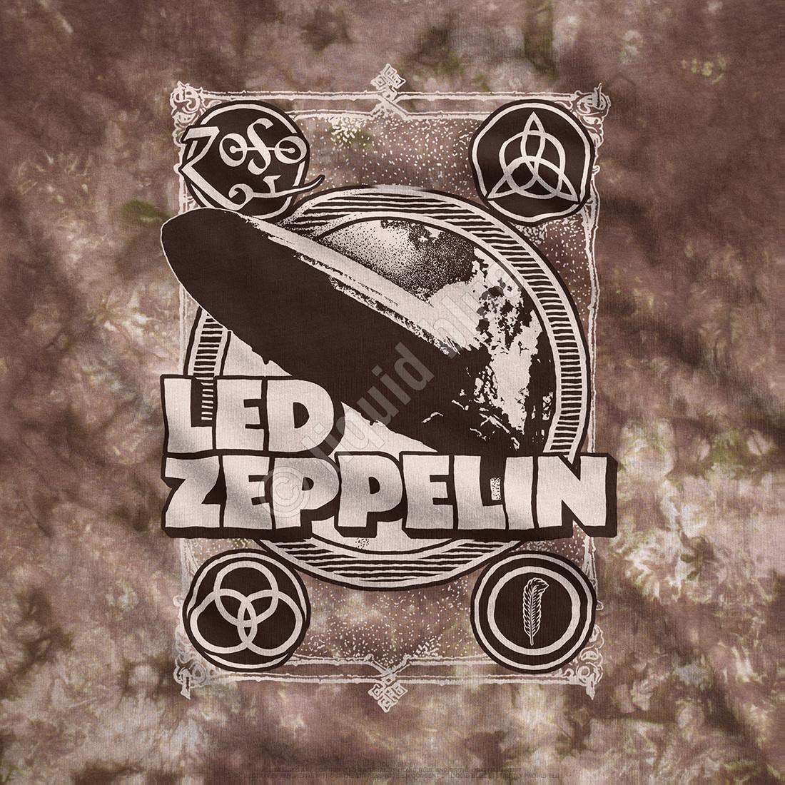 Zeppelin Poster Tie-Dye T-Shirt