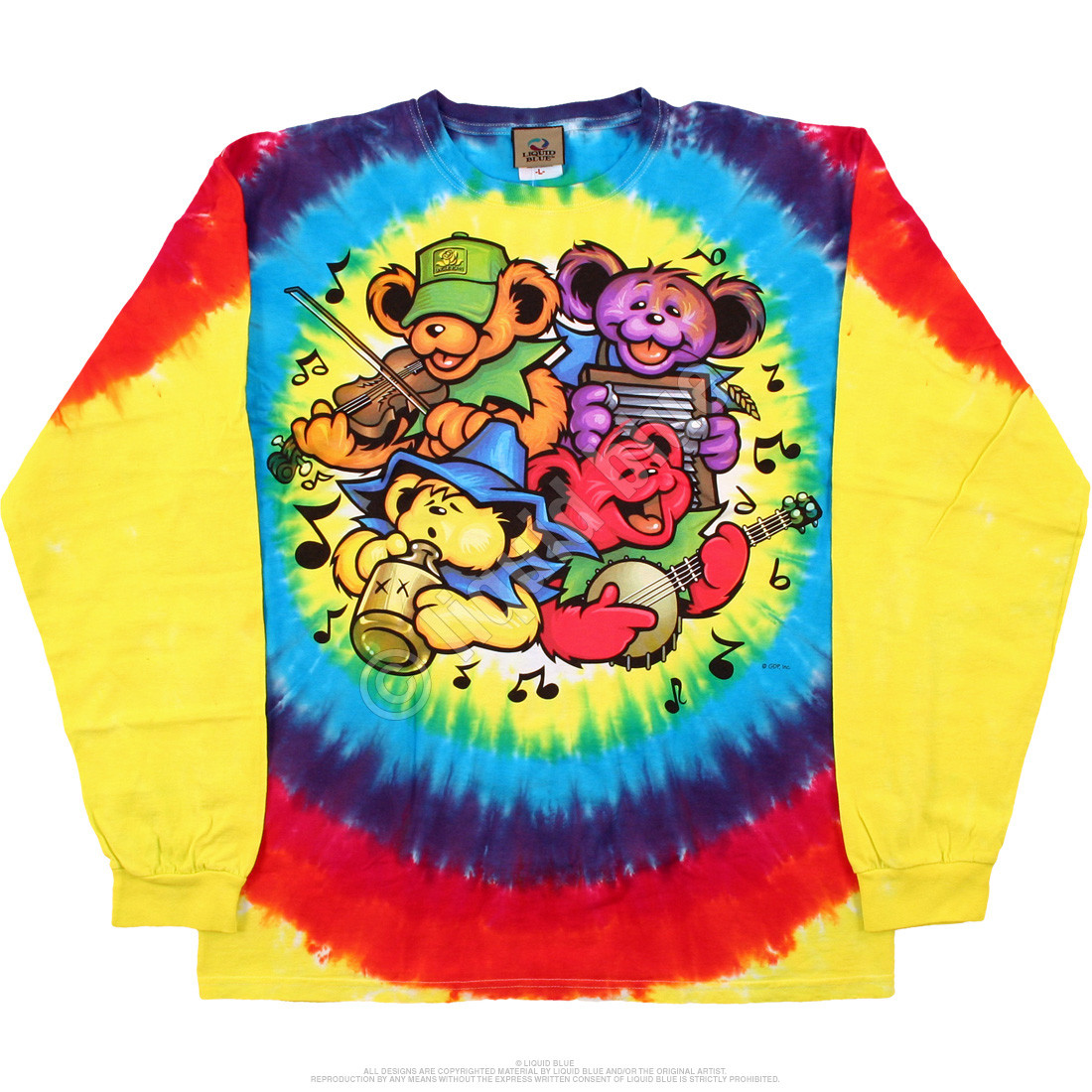 Bear Jamboree Tie-Dye Long Sleeve T-Shirt