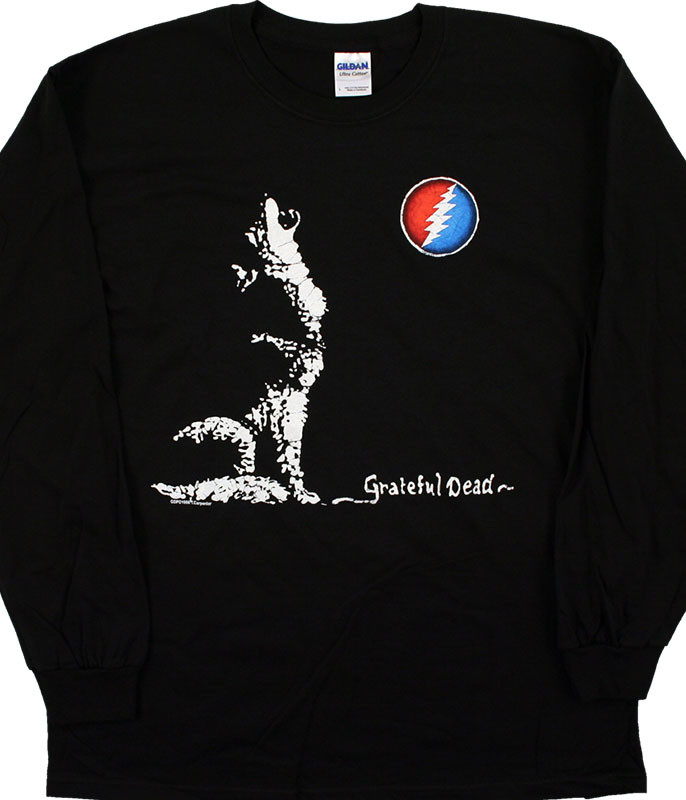 Grateful Dead Wolf Moon Black Long Sleeve T-Shirt Tee