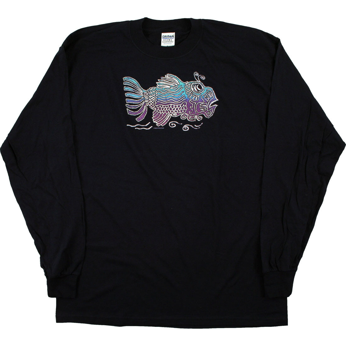 Jerry Fish Navy Long Sleeve T-Shirt