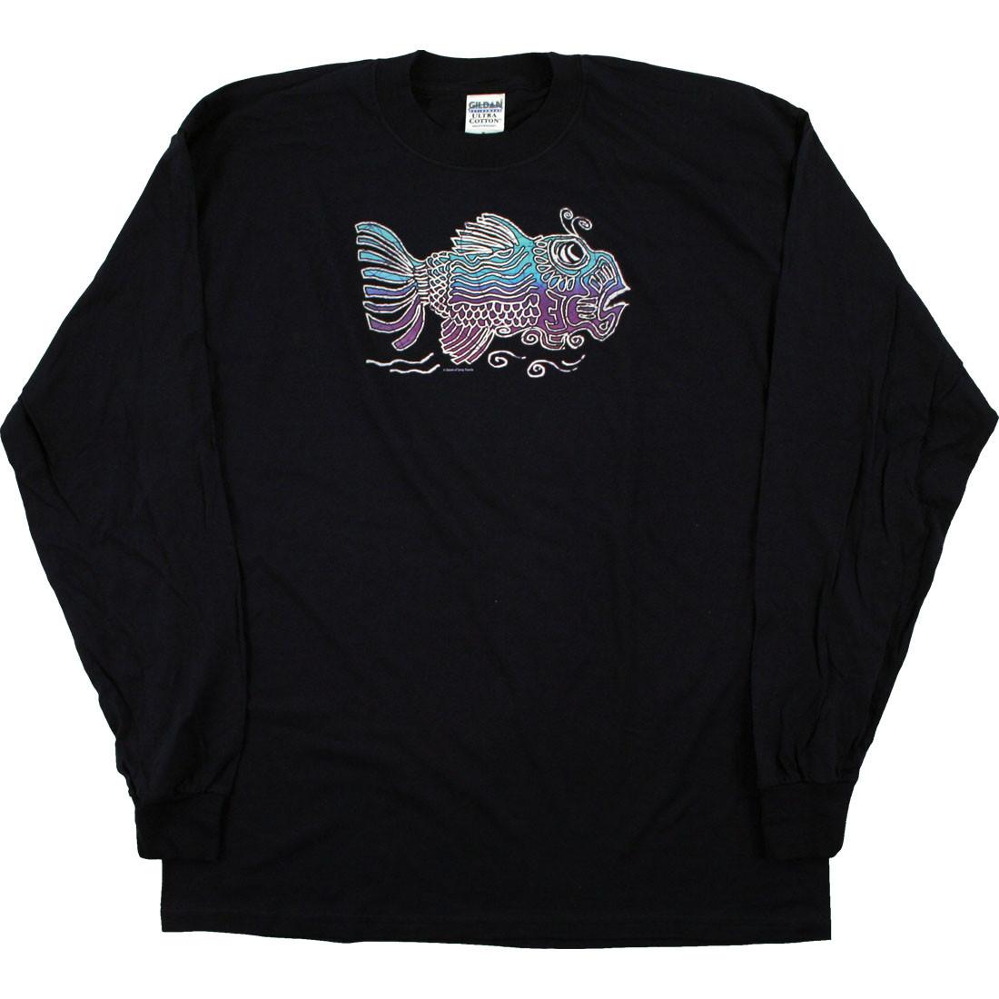 Jerry Fish Navy Long Sleeve T-Shirt