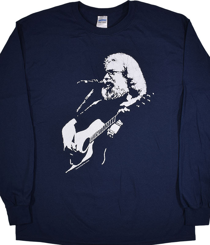 Jerry Garcia Jerry Acoustic Navy Long Sleeve T-Shirt Tee