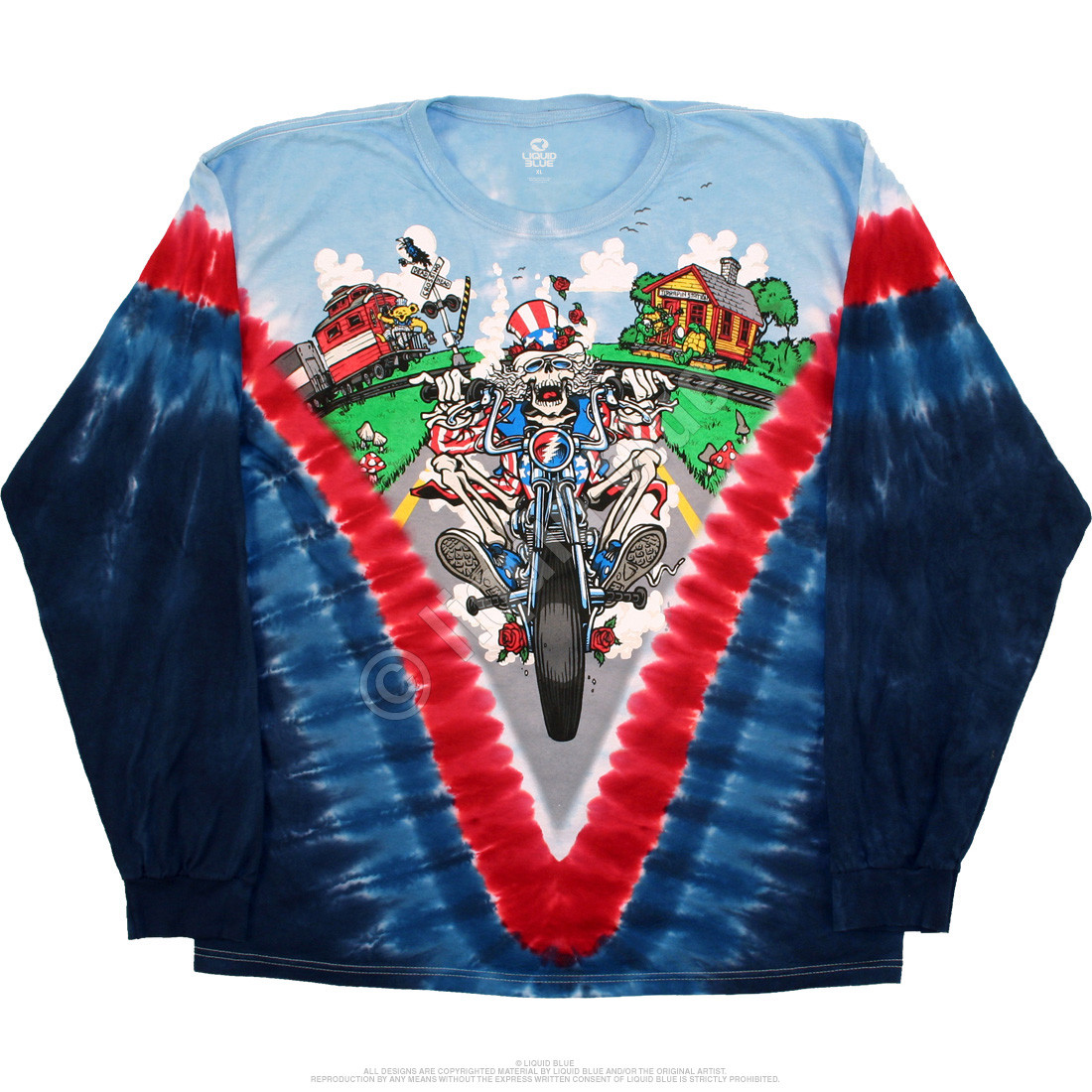 Moto Sam Tie-Dye Long Sleeve T-Shirt