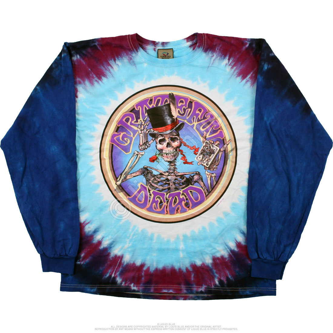 Queen Of Spades Tie-Dye Long Sleeve T-Shirt