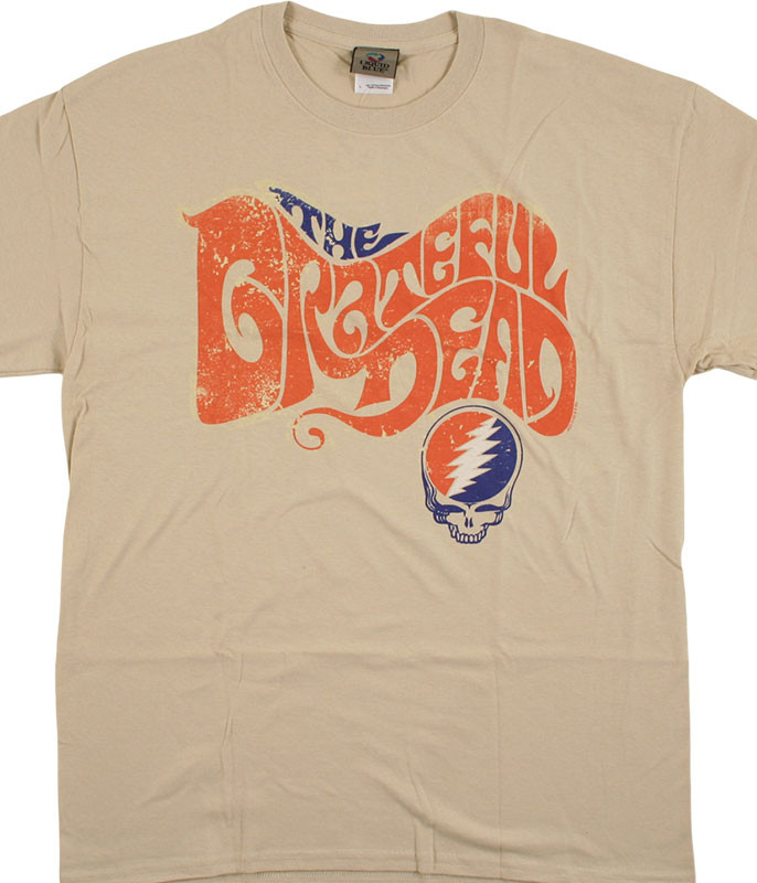 Grateful Dead The Grateful Dead Tan T-Shirt Tee Liquid Blue