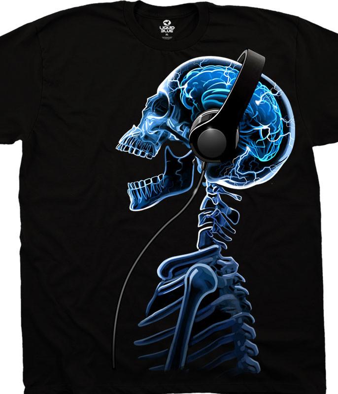 Skelephones Black T-Shirt