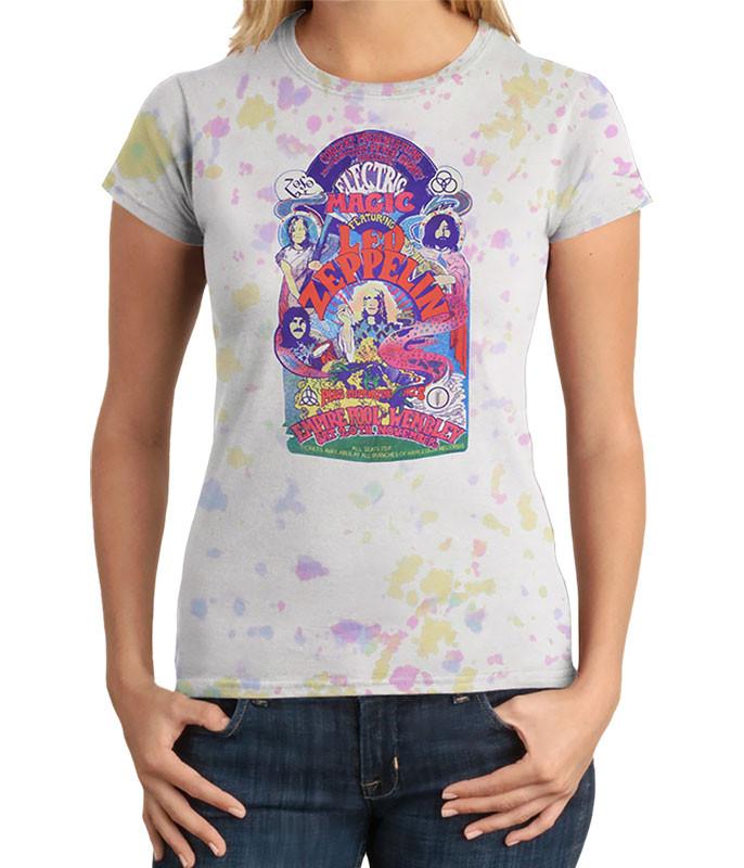 Electric Magic Juniors Tie-Dye Juniors Long Length T-Shirt