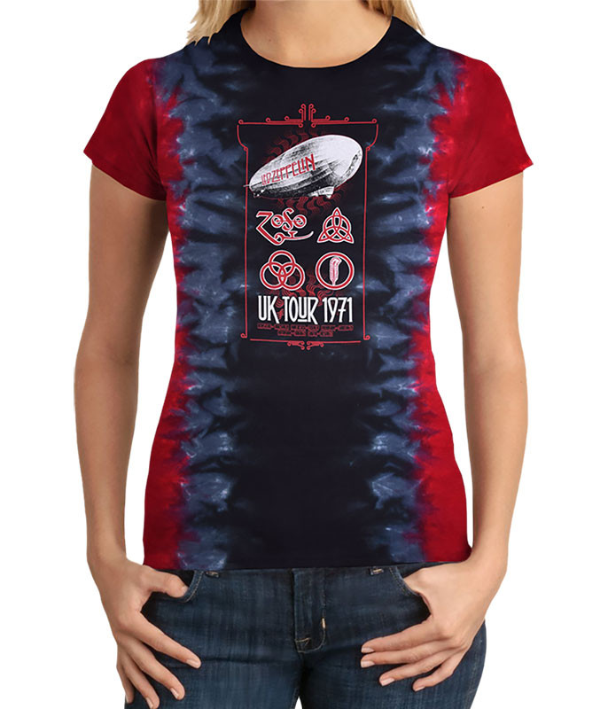 Uk Tour 1971 Tie-Dye Juniors Long Length T-Shirt